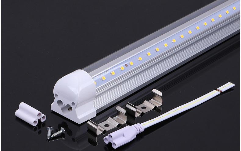 超高亮度长寿命18W15W9WT8一体化LED日光灯支架铝基板图片